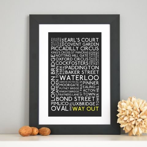 London Travel Typographic Art Print